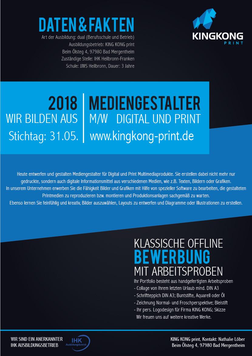 Kingkong Print Onlinedruckerei Bad Mergentheim Würzburg